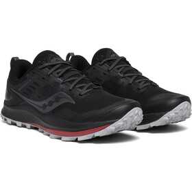 saucony Peregrine 10 Chaussures Homme, black/red